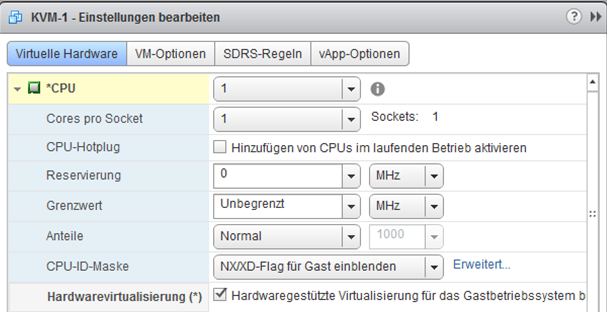 Hardware virtualization: [x] Expose hardware assisted virtualization to guest-OS